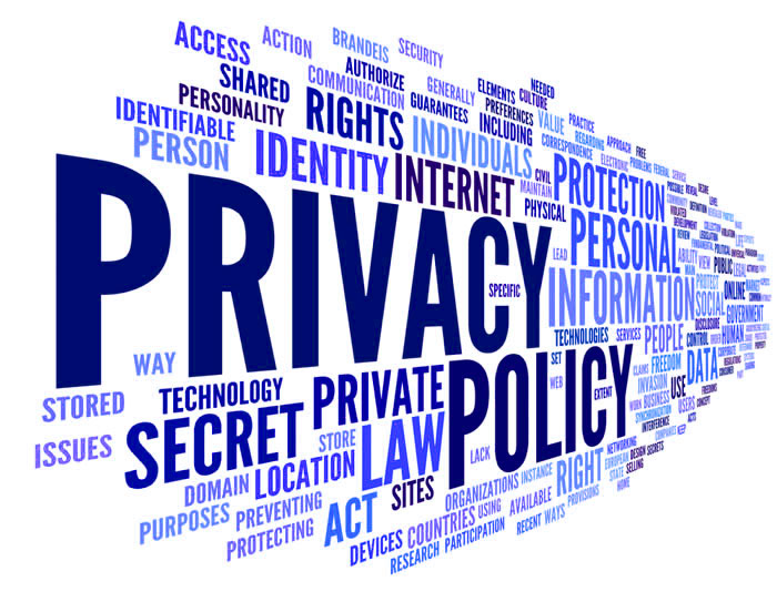 privacy policy picture of mixed words